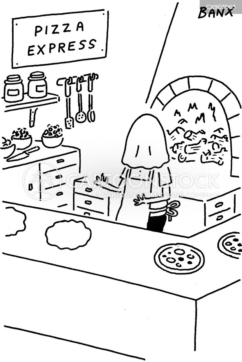 pizza oven cartoon