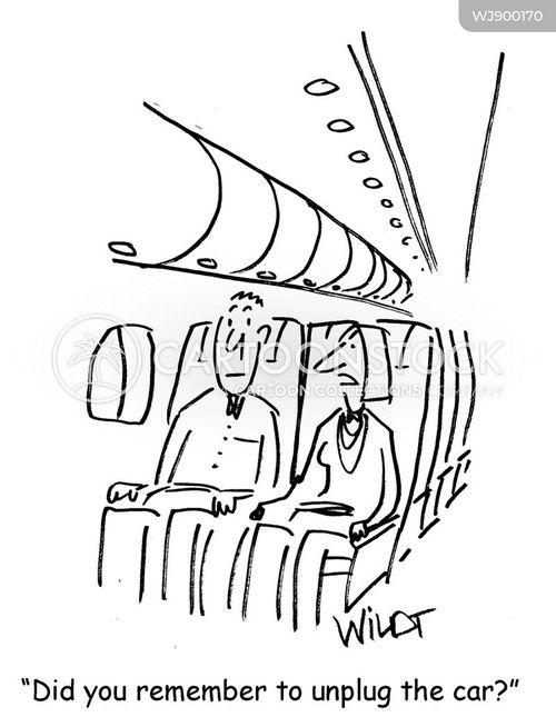 electric cars cartoon