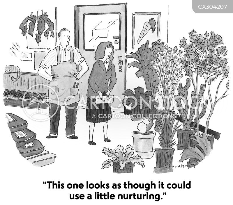houseplant cartoon