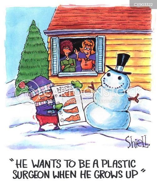 snow figures cartoon