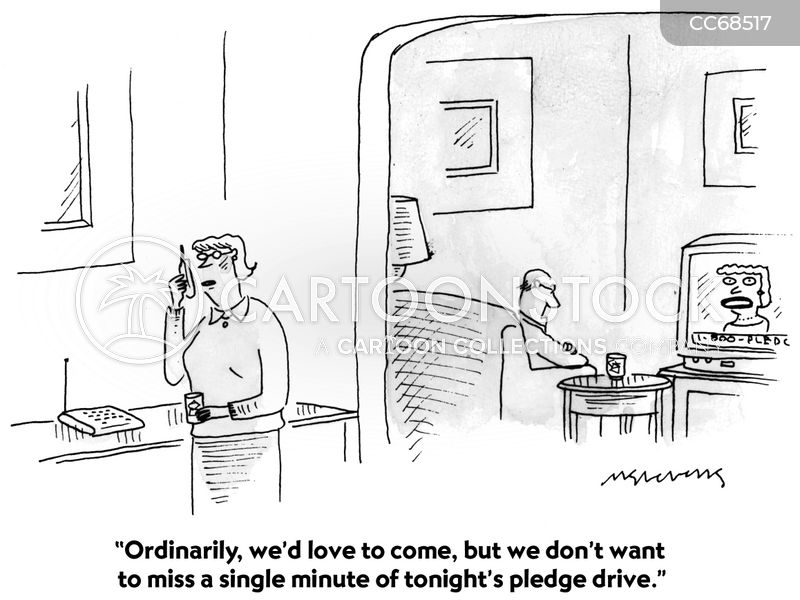 pledge drives cartoon