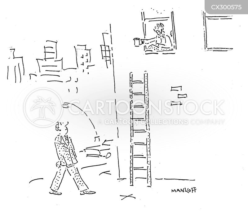 Climbing Ladders cartoon