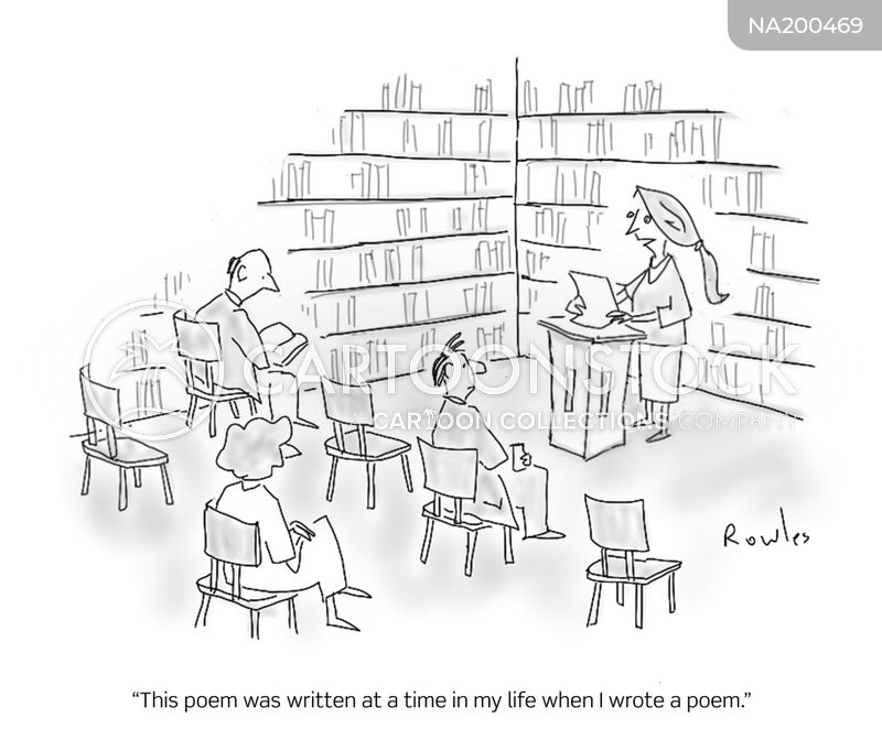 poetry readings cartoon