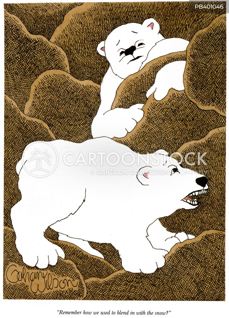 natural camouflage cartoon