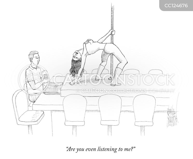 pole dancers cartoon