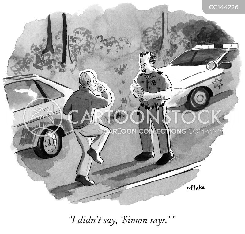 sobriety tests cartoon