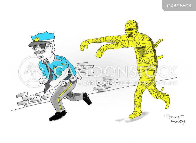 police tape cartoon