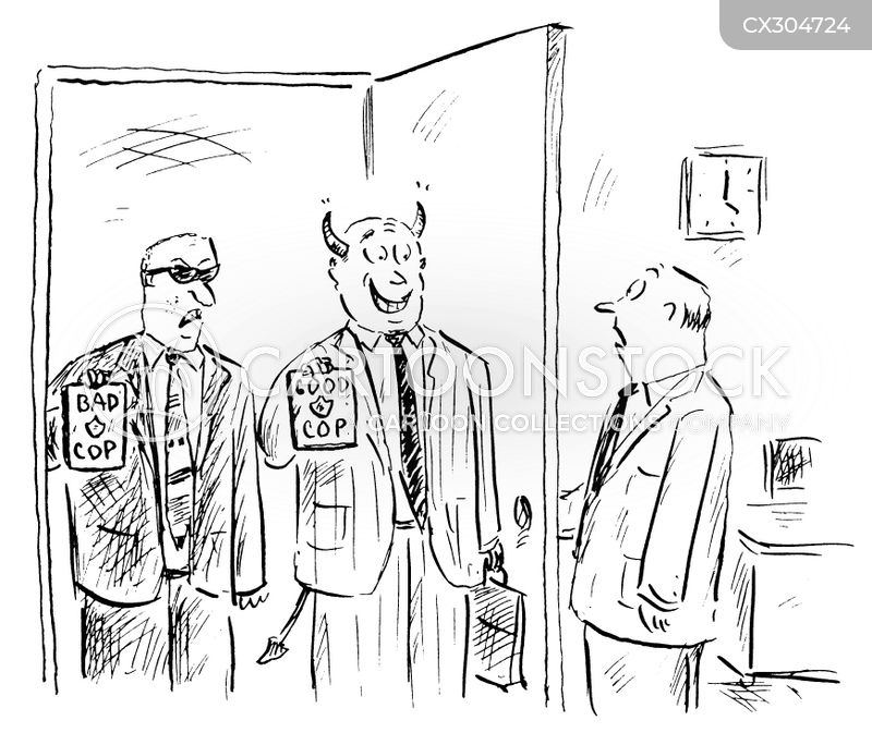 good cop/bad cop cartoon