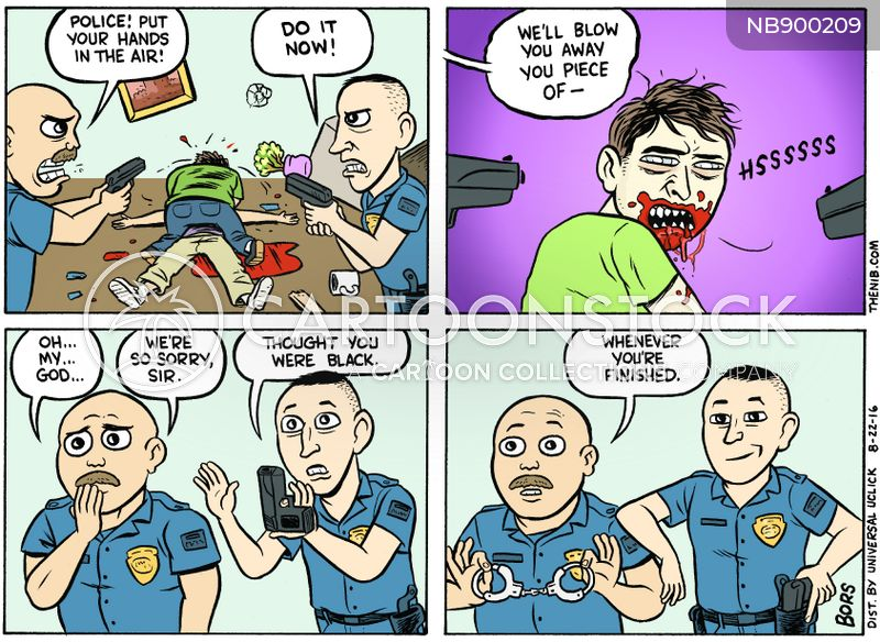 police violence cartoon