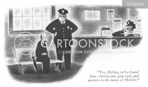 police station cartoon