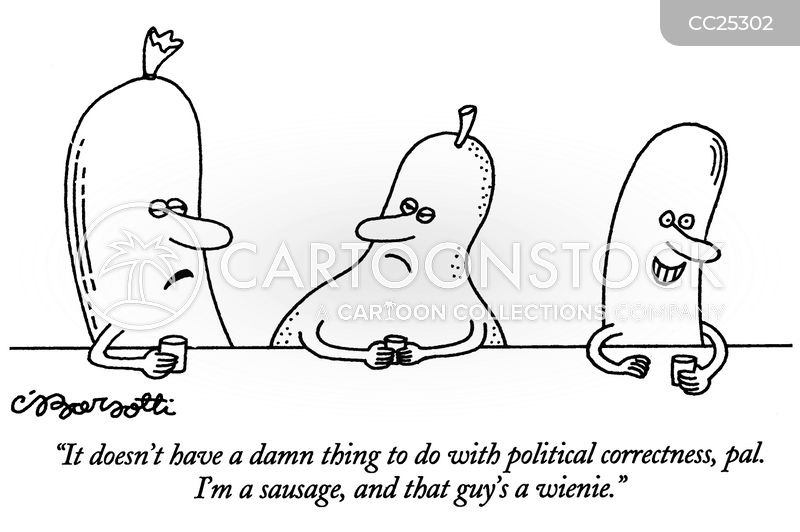 sausages cartoon