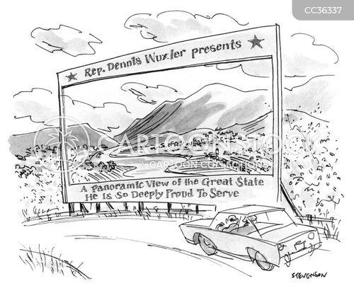 landscapes cartoon