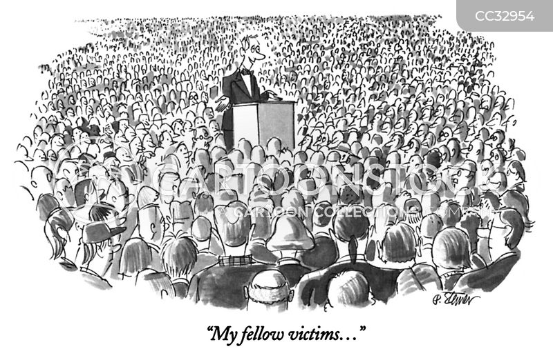 victimised cartoon