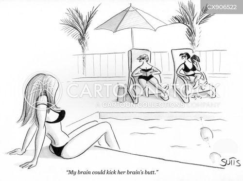 sunbathing cartoon
