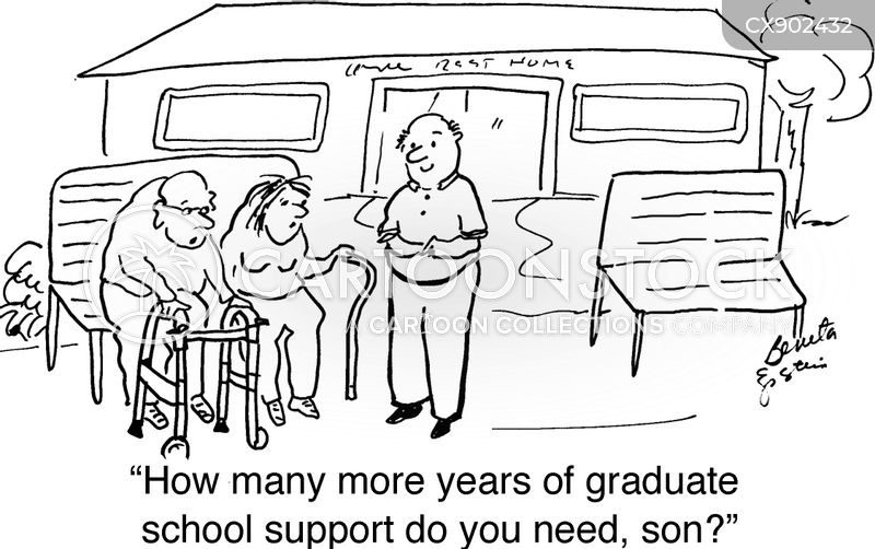 retirement home cartoon