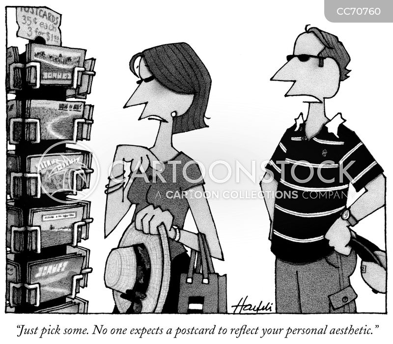 tourist shop cartoon