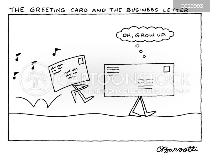 mailing cartoon