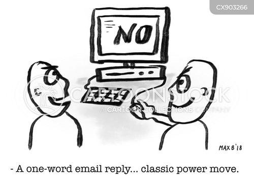 emailing cartoon