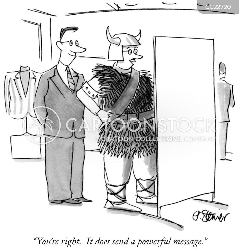 Clothing Store cartoon