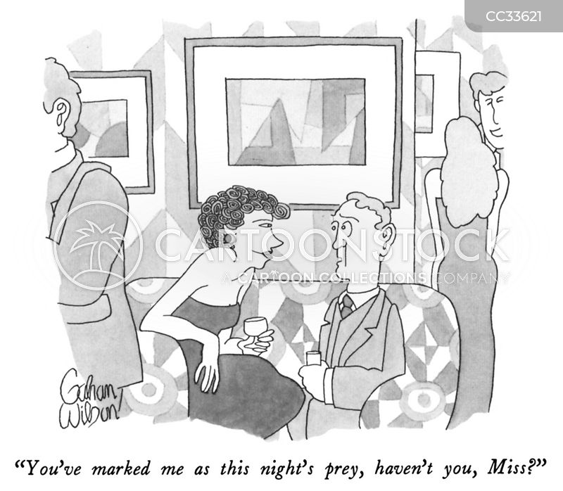 cocktail party cartoon