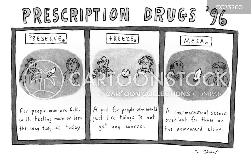 Drug Pushing cartoon