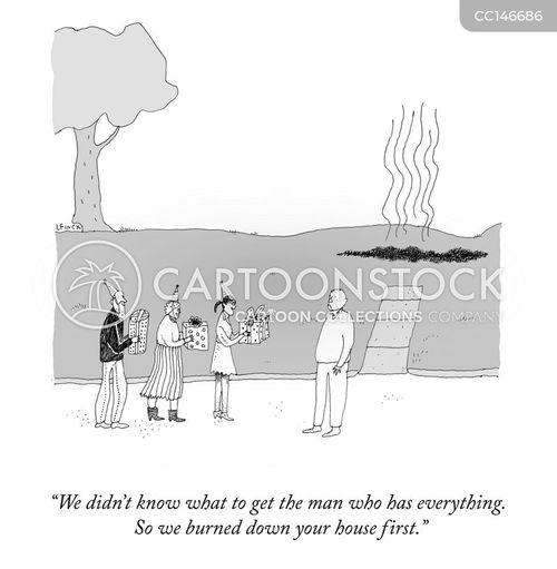 arson cartoon