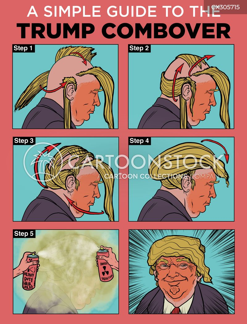 combover cartoon