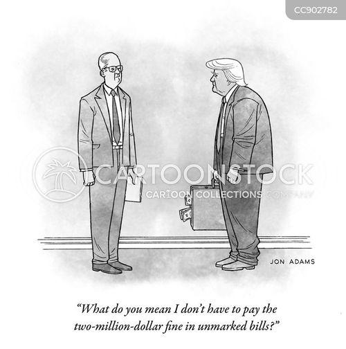 illegal business cartoon