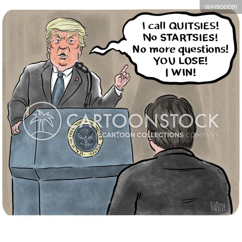 press conferences cartoon
