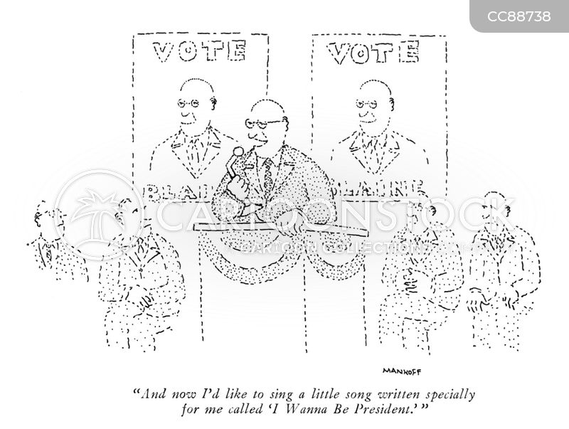 Presidential Election cartoon