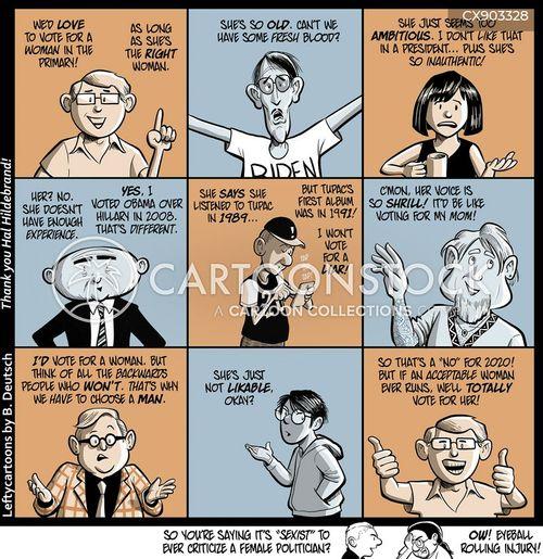 female politicians cartoon
