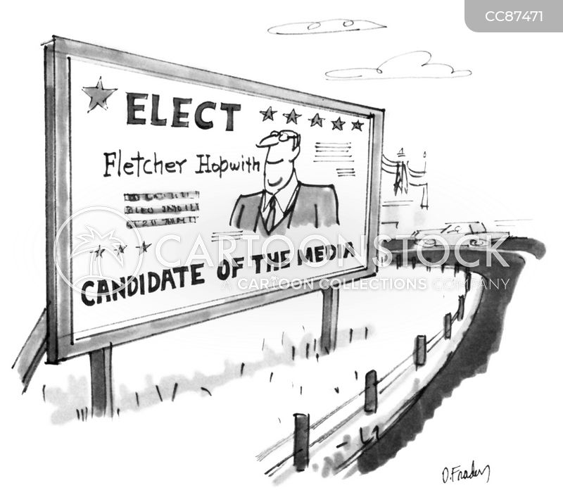 political campaign cartoon