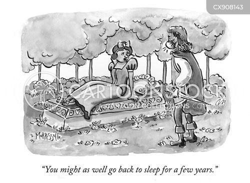 wakes up cartoon