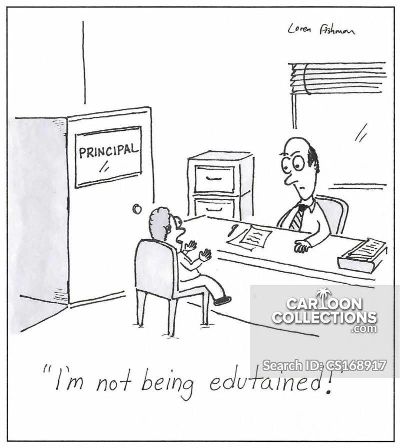 Principals Office cartoon