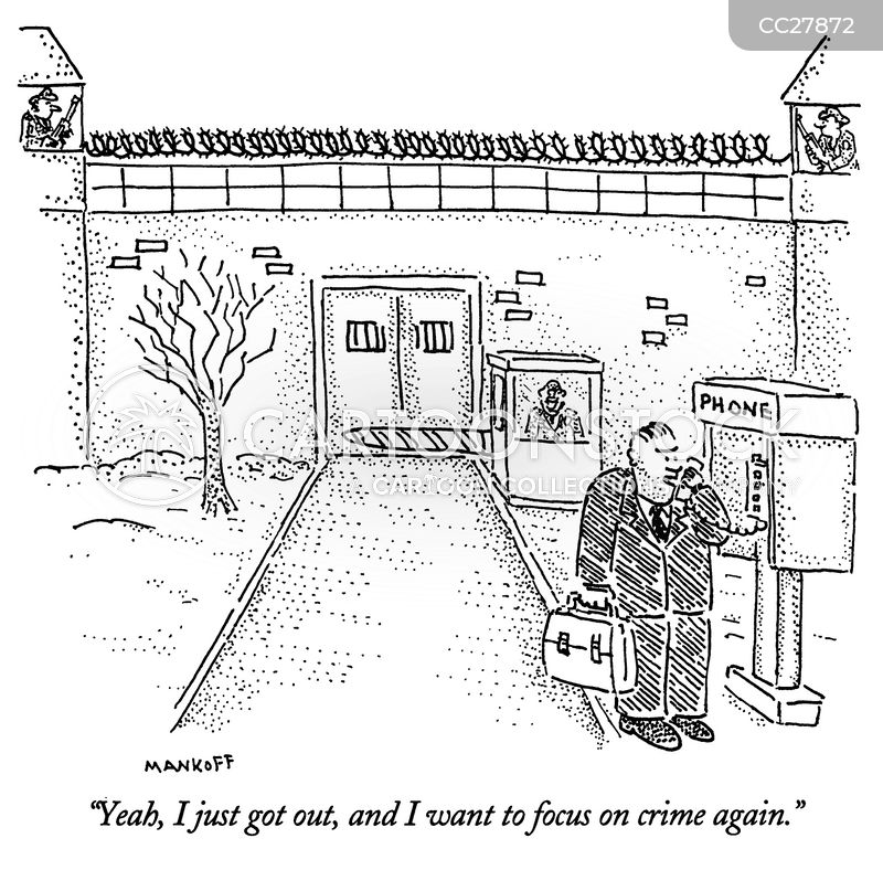 revolving door prison system cartoon