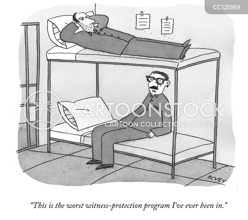 Witness Protection Schemes cartoon