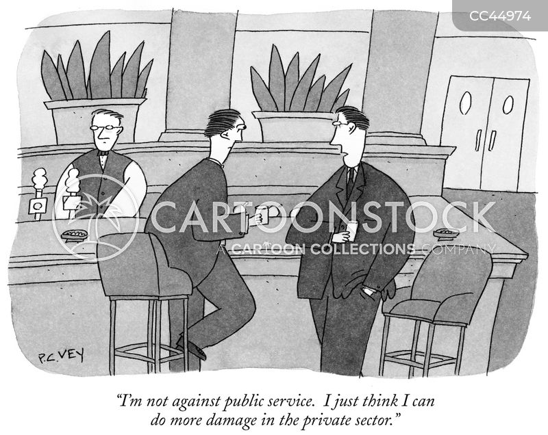 private sector cartoon