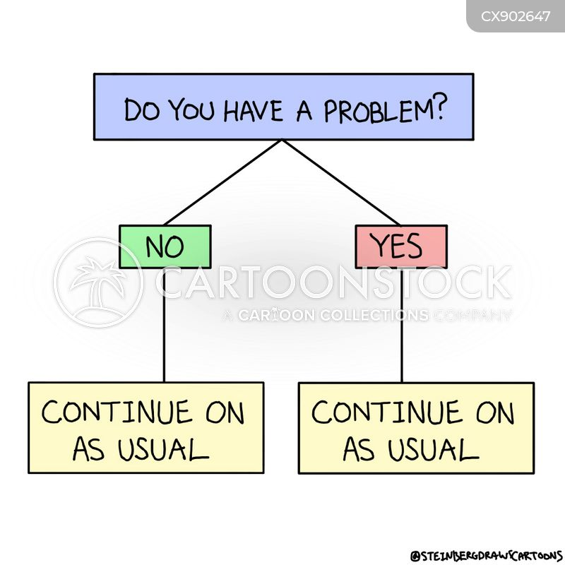 ignoring problems cartoon