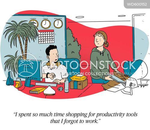 productivity tools cartoon