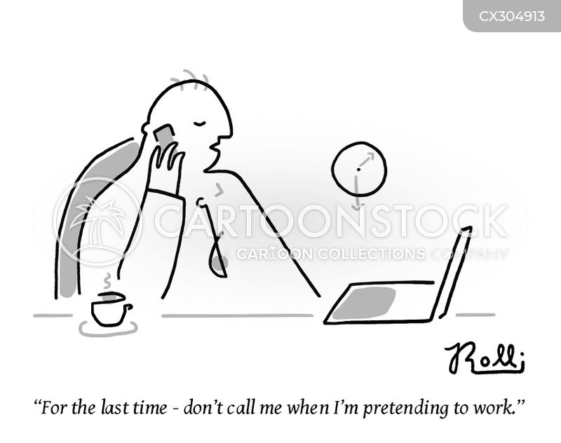 procrastinate cartoon