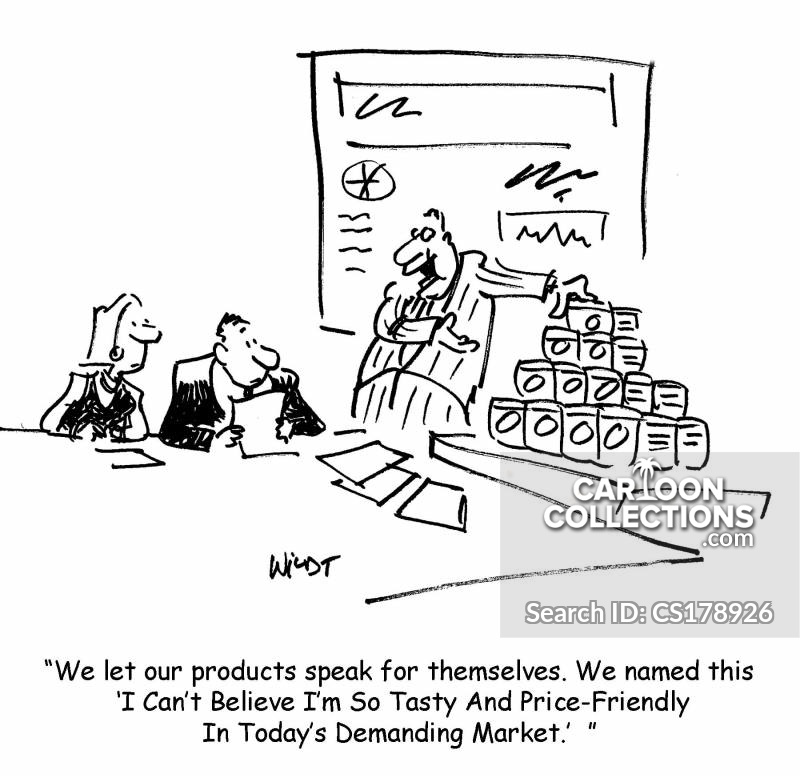 grocery shoppers cartoon
