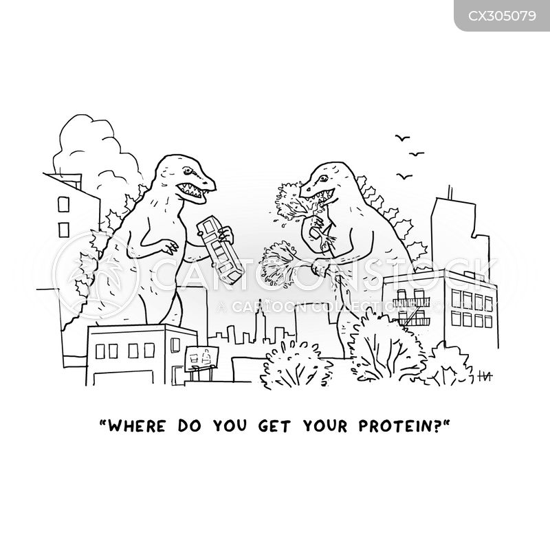 proteins cartoon
