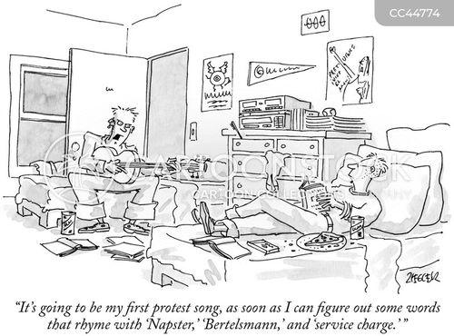 media companies cartoon