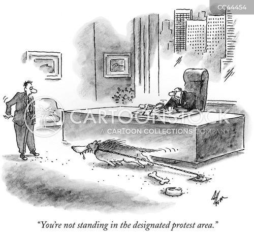 working environments cartoon