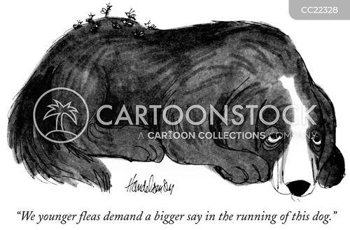 protesting cartoon