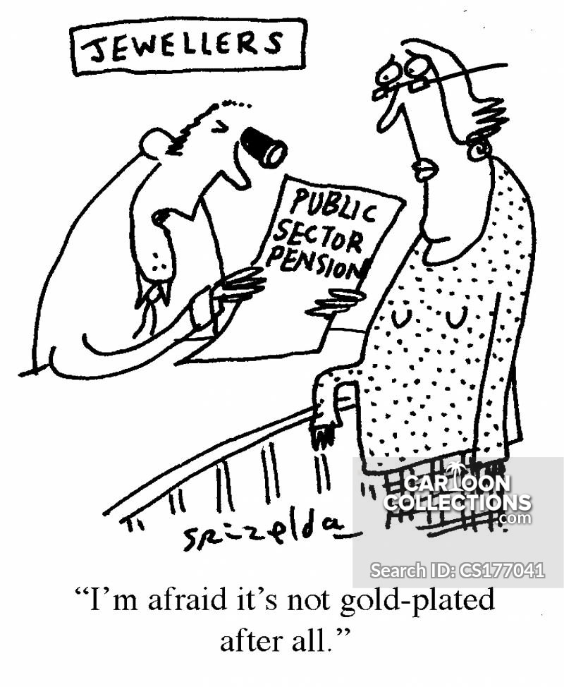 Public Sector Pension cartoon