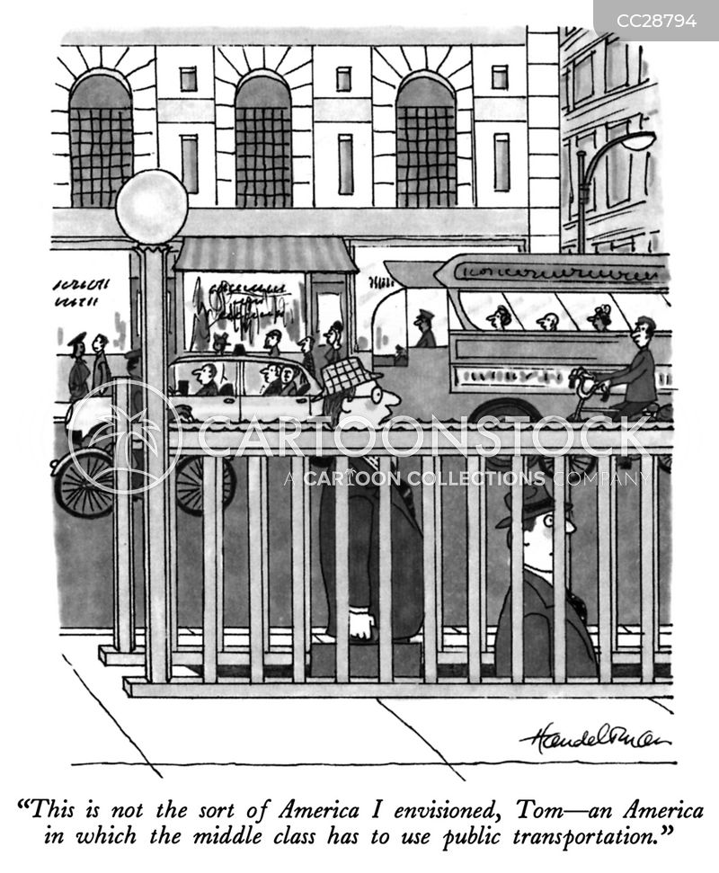 public transportations cartoon