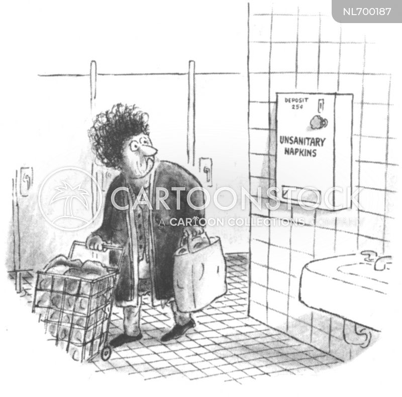 sanitary towel cartoon