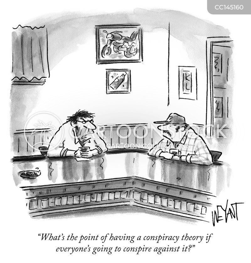 conspiracy theorists cartoon