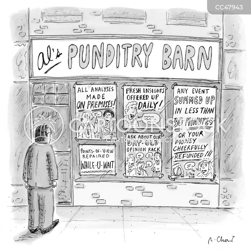 pundits cartoon